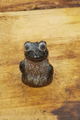 Chinese Cloisonné Animal - Frog - Black and White