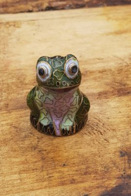 Chinese Cloisonné Animal - Green frog