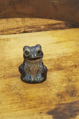 Chinese Cloisonné Animal - Frog - Blue
