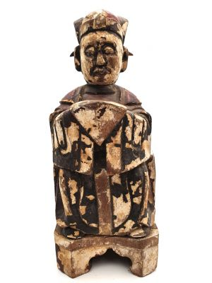 Chinese Votive Statue - Qing Dynasty - Chinese man