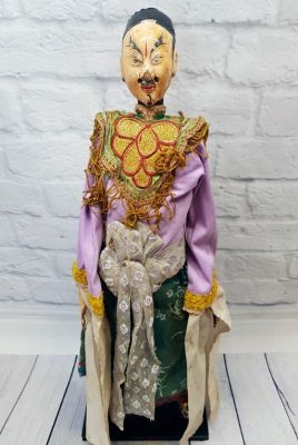 Ancient Chinese Theater Puppet -Fujian Province - Man / Opera Dancer