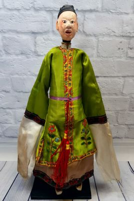 Ancient Chinese Theater Puppet -Fujian Province - Man / Dancer