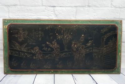 Chinese wood panel Painting The palace garden