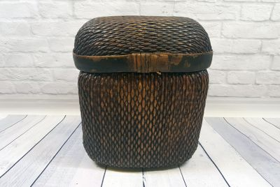 Old Chinese Large braided box - Basketry