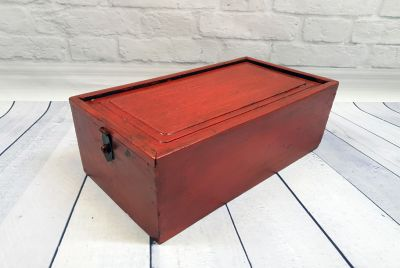 Old Chinese Chest Red