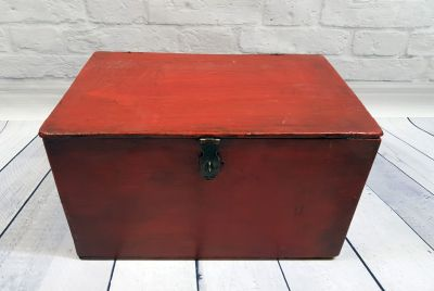 Old Chinese Chest Big red box