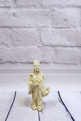 White Chinese Statue - Porcelain Dehua - Old man