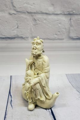 White Chinese Statue - Porcelain Dehua - Old man 2