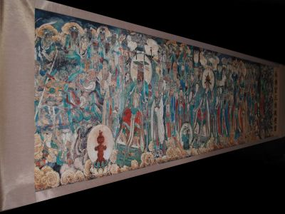 Very Large Chinese Kakemono - Painting - Buddhist painting