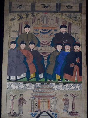 Old Chinese Chinese Ancestor Painting - Ancient Asian painting