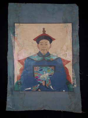 Old reproduction - Portrait of Chinese ancestors - Emperor 2
