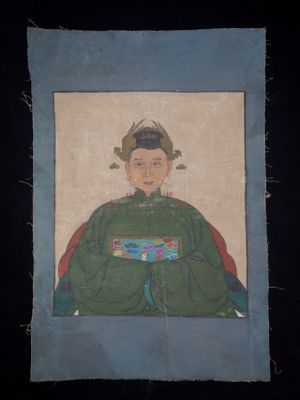 Old reproduction - Portrait of Chinese ancestors - Empress 2