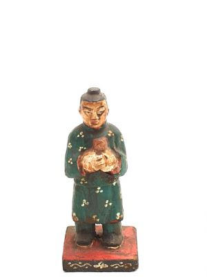 Old reproduction - Small Chinese votive statue - Household