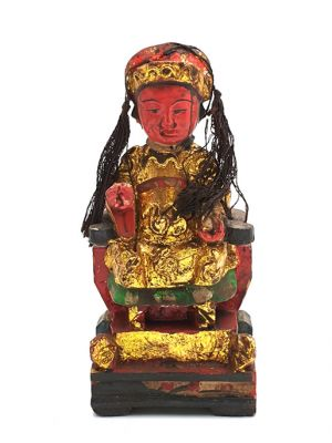 Old reproduction - Small Chinese votive statue - Empress 2