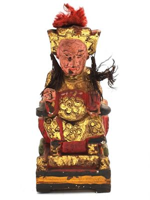 Old reproduction - Small Chinese votive statue - Empress 3
