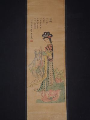 Small Chinese Paining - Kakemono - Lady of Court 3
