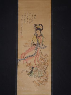 Small Chinese Paining - Kakemono - Lady of Court 4