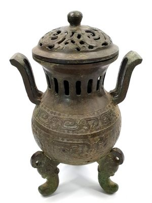 Chinese Bronze Box - temple censer