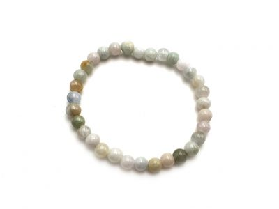 6mm Jade Beads Bracelet - Gradient of green