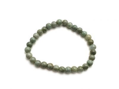 6mm Jade Beads Bracelet - Light Green / Translucent