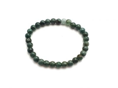 6mm Jade Beads Bracelet - Imperial green