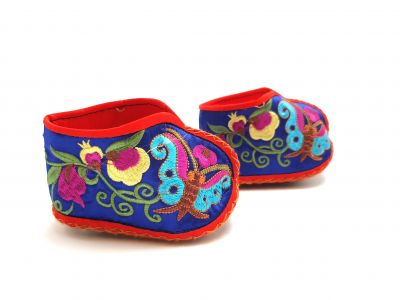 Chinese Embroidery - Miao Baby Slippers - Blue