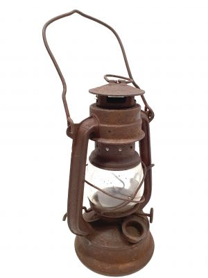 Old chinese Safety Lamp - Brown