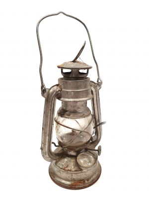 Old chinese Safety Lamp - Aluminium
