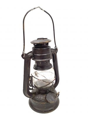 Old chinese Safety Lamp - Black