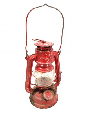 Old chinese Safety Lamp - Red