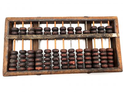 Old Abacus - Abacus in wood from China