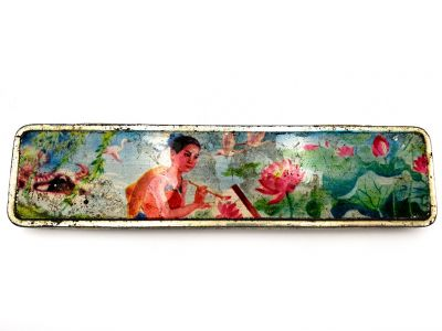 Old Chinese pencil boxes - The Lotus Painter - Chinese Nature