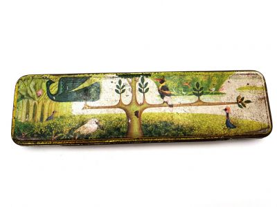 Old Chinese pencil boxes - The forest of birds