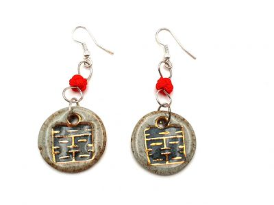 Ceramic jewelry Road to India Collection - Earrings - Old style