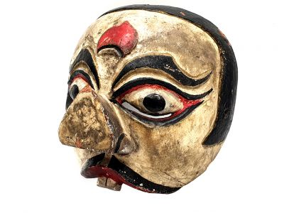 Old Java mask (80 years) - Indonesian Theater - Javanese Topeng Mask - Clown