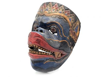 Old Java mask (50 years) - Indonesian Theater - Topeng Mask - restored