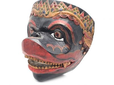 Old Java mask (80 years) - Indonesian Theater - Javanese Topeng Mask