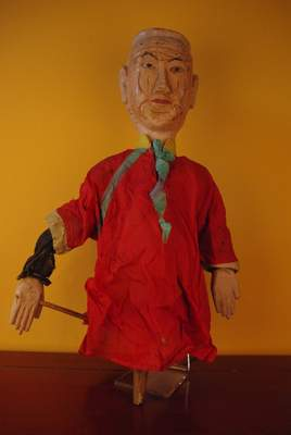 Old Chinese wooden Puppet from Fujian