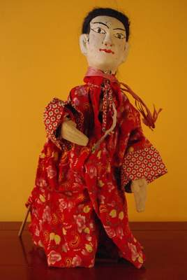 Chinese Red and White wooden Puppet