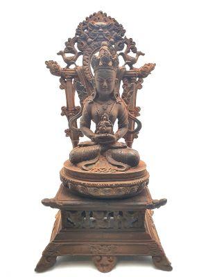 Ancien Temple Chinois avec son Bodhisattva en métal