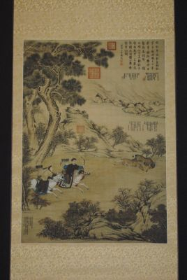 Chinese Rider painting on silk paper