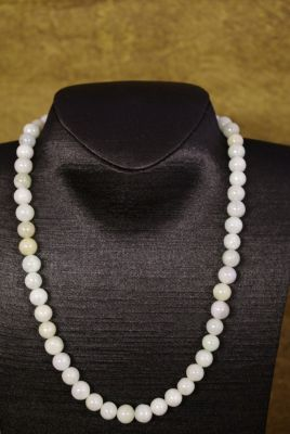White Jade beads Necklaces