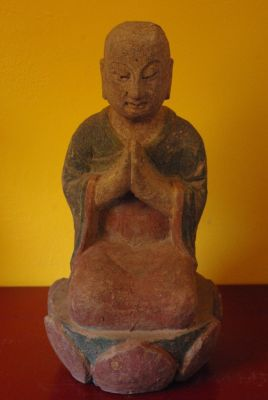 Small Chinese Wooden Statues and Buddha Statue