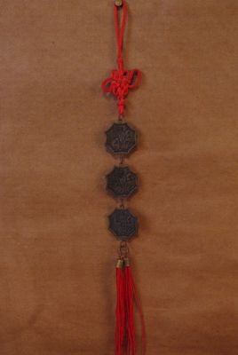 Feng Shui 3 chinese coins Line GuanYin