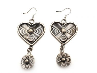Chinese Miao Earrings heart of China