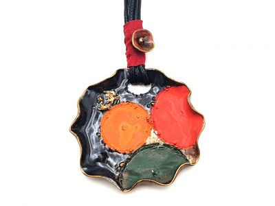 Large Ceramic Necklace waterlily collection