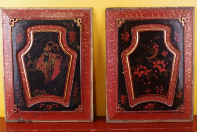 Old Chinese red wooden Panel
