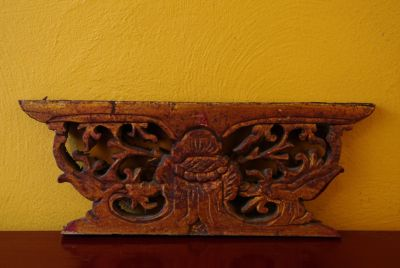 Old wooden panel carved from China decoration