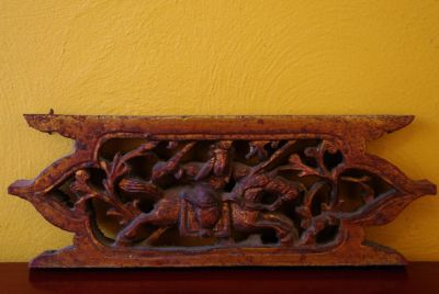 Old chinese wood decoration