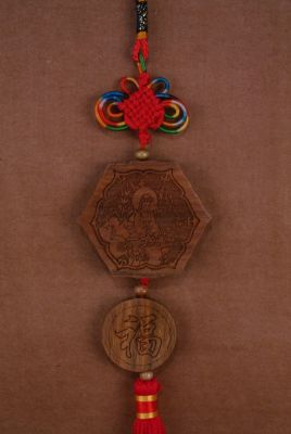 Feng Shui Pendants in Wood Goddess GuanYin